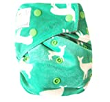 Kawaii Baby Bamboo Charcoal One Size Cloth Diaper with 2 Four Layers Inserts