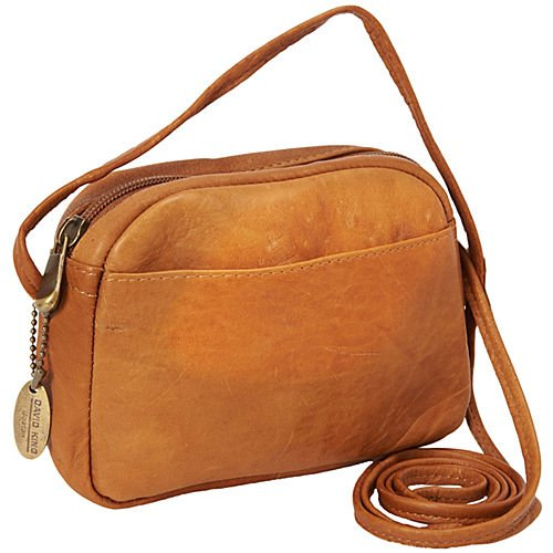 david-king-co-top-zip-mini-bag-517-tan-one-size