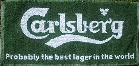 Carlsberg Lager Probably Cotton Bar Towel pp