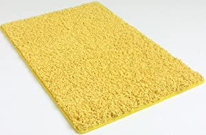 """10'x12' Area Rug. Bright Sunflower Yellow 37 oz TWISTED SHAG FRIEZE Very THICK, PLUSH and LUXURIOUS. Many sizes and 20 vibrant """"mod"""" colors to choose from."""