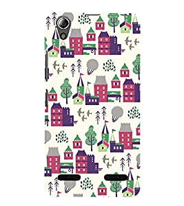City Tree Greenery 3D Hard Polycarbonate Designer Back Case Cover for Lenovo A6000