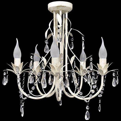 Lampada del soffitto pendente, elegante lampadario di cristallo, 5 portalampada