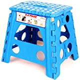 Blue Ez Foldz Step Stool / Bench, 13 High -Affordable Gift for your Loved One! Item #DCHI-XIM-ST32-BLU