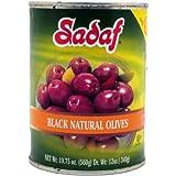 Sadaf Olives Black Natural, 19.75-Ounce (Pack of 6)