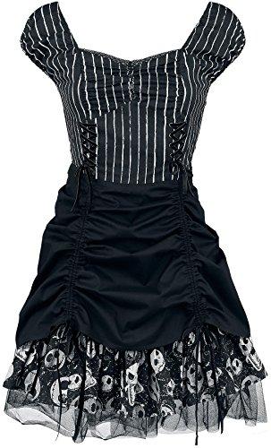 The Nightmare Before Christmas Pinstripe Dress Abito nero/bianco XS