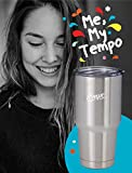 30oz Stainless Steel Tumbler Kit, Coffee Travel Mug, Double Wall Vacuum Insulated Cup + Carry Bag, Accessories Include Pouch, BPA Free Shatter Proof Lid, Regular Lid, Tea Infuser, Straw, Brush + eBook