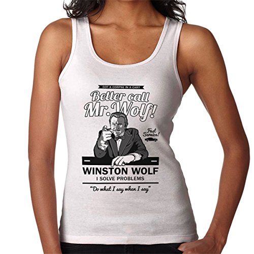 Better Call Mr Wolf Pulp Fiction Women's Vest