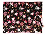 Patricia Ann Designs Sweet Skull Corduroy Changing Mat, Pink Fleece and Pink Check Trim