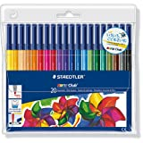 Staedtler Noris Club 326 WP20 Fibre Tip Pen In Wallet - 20 Assorted Colours