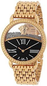 """Versace Women's 93Q80BD008 S080 """"Krios"""" Rose Gold Ion-Plated Stainless Steel Micro-Sphere Bracelet Watch"""