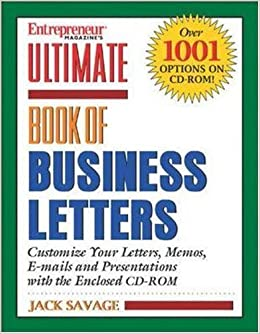 Ulimate Book Of Business Letters Entrepreneur Magazines