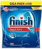 Finish Pack de 100 Lave Vaisselles Tablettes Multifonctions Tout en 1 Power Ball