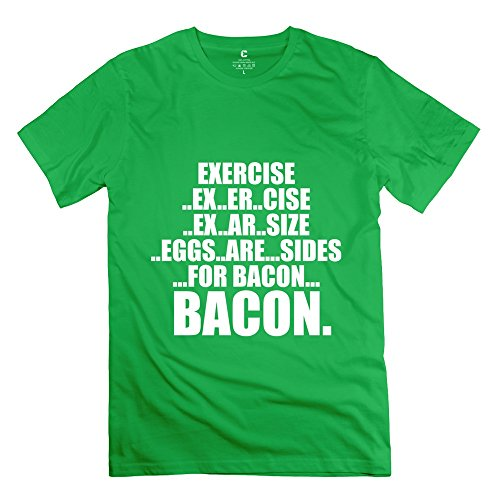Tgrj Men'S Tshirt - Geek Exercise T Shirt Forestgreen Size L