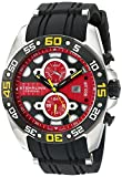Stuhrling Original Men's 'Symphony' Swiss Quartz Stainless Steel and Silicone Sport Watch, Color:Black (Model: 346.331664) Rating