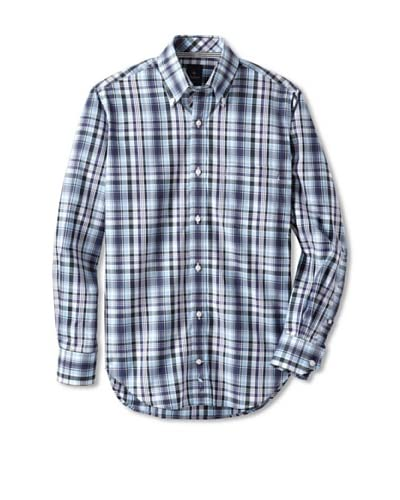 TailorByrd Men's Screwdriver Checked Long Sleeve Shirt