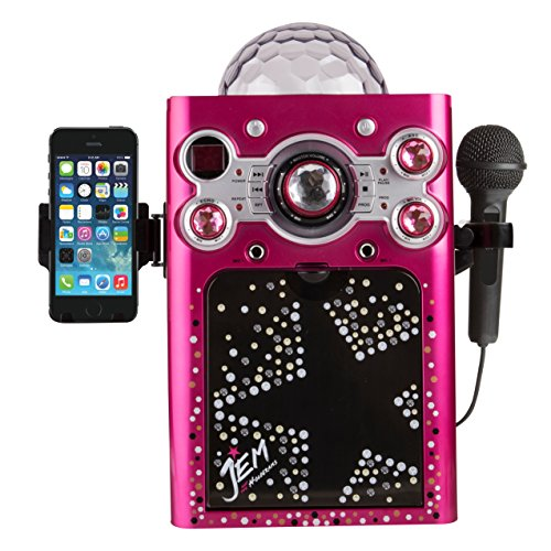 Sakar-Jem-Holograms-KO2-06095-CDG-Karaoke-Machine-with-1-Microphone