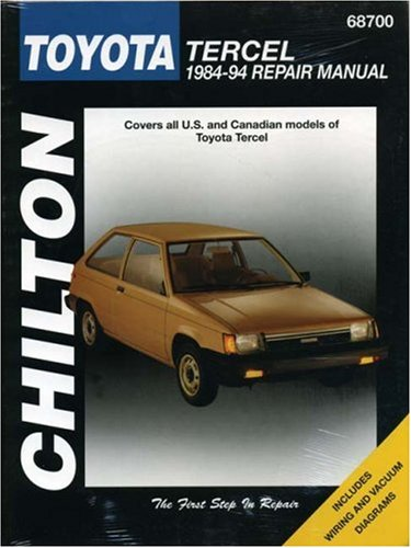 Toyota Tercel, 1984-94 (Chilton's Total Car Care Repair Manual)