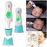VOSMEP Baby Stirnthermometer Ohrthermometer Umgebungstemperaturermometer für Baby Infrarot Thermometer Temperatur Gun mit großem LCD Instant Lesen für Baby Kind Erwachsene Kinder SH12