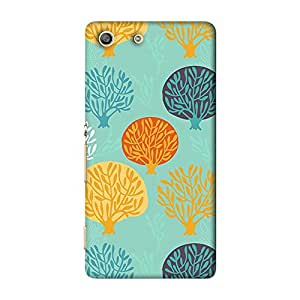 ArtzFolio Leaf Art : Sony Xperia M5 Matte Polycarbonate ORIGINAL BRANDED Mobile Cell Phone Protective BACK CASE COVER Protector : BEST DESIGNER Hard Shockproof Scratch-Proof Accessories