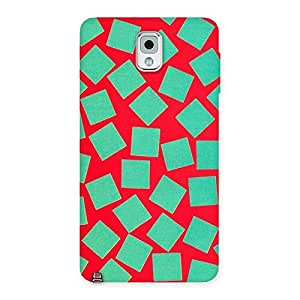 Cute Green Red Print Back Case Cover for Galaxy Note 3