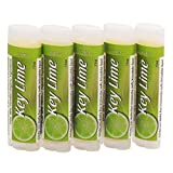 SALUS Key Lime â˜... Organic Lip Conditioner 5 Pack â˜... All Natural and made with Organic Beeswax, Organic Shea Butter, and Organic Cocoa Butter - Handcrafted in the USA - 5 Pack