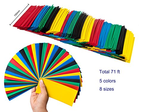 Great Features Of SummitLink® (HT71ft) 145Pcs Large Size Heat Shrink Tube Combo Pack Total Length 7...