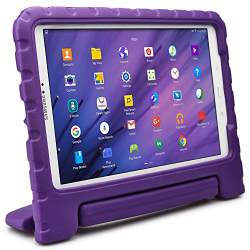 Samsung Galaxy Tab A 10.1 kids case, COOPER DYNAMO Rugged Heavy Duty Children's Boys Girls Toy Drop Proof Protective Carry Case Cover Handle, Stand, Screen Protector SM-T580 T585 P580 P585 Purple (Old Book Case For Samsung Tablet compare prices)