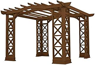 Yardistry Arched Roof Pergola 12 by 14-Feet Tugboat