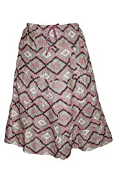 Indiatrendzs Skirts Women's Abstract Print Cotton Summer Skirt Colorful