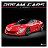 "Time Factory Dream Cars 12"" x 12"" January -December 2019 Wall Calendar (19-1050)"