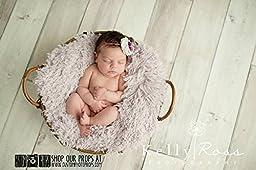 Hypoallergenic & Washable Heaven FUR Newborn Baby Photo Props, Photography Props, Props for Babies, Basket Stuffer, Fabric - Super SoFT, Girl, Basket Stuffer, Blanket