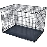 """BestPet 30"""" Large Folding Wire Pet Cage For Dog Cat House Metal Dog Crate"""