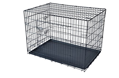 BestPet 30″ Large Folding Wire Pet Cage For Dog Cat House Metal Dog Crate