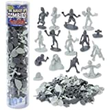 Zombie Action Figures - Big Bucket of 100 Zombie - Includes Zombies, Zombie Pets, Gravestones, and Humans!