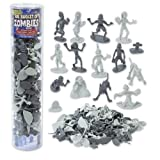 Zombie Action Figures - Big Bucket of 100 Zombies - Includes Zombies, Pets, Graves, and Humans