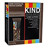 Kind Nuts & Spices Chocolate Bar, Dark Chocolate Mocha Almond, 1.4 oz, Pack of 12