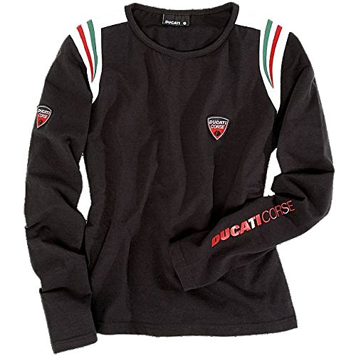 ducati-corse-motogp-bike-motorcycle-ladies-longsleeve-black-t-shirt-medium