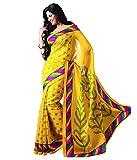 Binny Creation Women's Cotton Saree (binny_yellow_yellow)