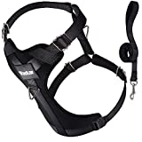Vastar No-Pull Dog Leash Harness with Sleek Stainless Rings & 49