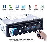 GEEDIAR-Autoradio-mit-Bluetooth-Freisprecheinrichtung-und-Abspielfunktion-fr-SmartphoneHandyMP3-PlayerUSB-Anschluss-und-SD-Kartenslot4x-60WattAux-Eingang-KT-6203-Schwarz