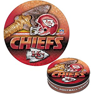 Wincraft Kansas City Chiefs 500 Piece Puzzle in Collectable Tin