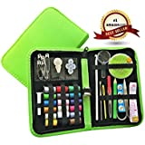 WooCrafts TM Best Sewing Kit for Travel,Home & Emergency - Compact Sewing Kit and Premium Sewing Supplies for Kids, Girls & Adults,Beginners - Best Sewing Kit for Emergency Preparedness,College Dorms,Camping - Sewing Notions Supplies Case & Sewing Accessories(Sewing Thread Assortment,Assorted Hand Needles,Needle Threader,Marking Pencils,Seam Ripper,Quilting Thimbles,Shirt Buttons,Measuring Tape,etc.)