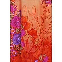 Triveni Chiffon Fabrics (TSFP12_Orange)