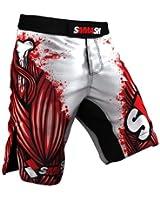 MMA short SMMASH Blood White 2.0 MMA BJJ UFC 1 S M L XL XXL