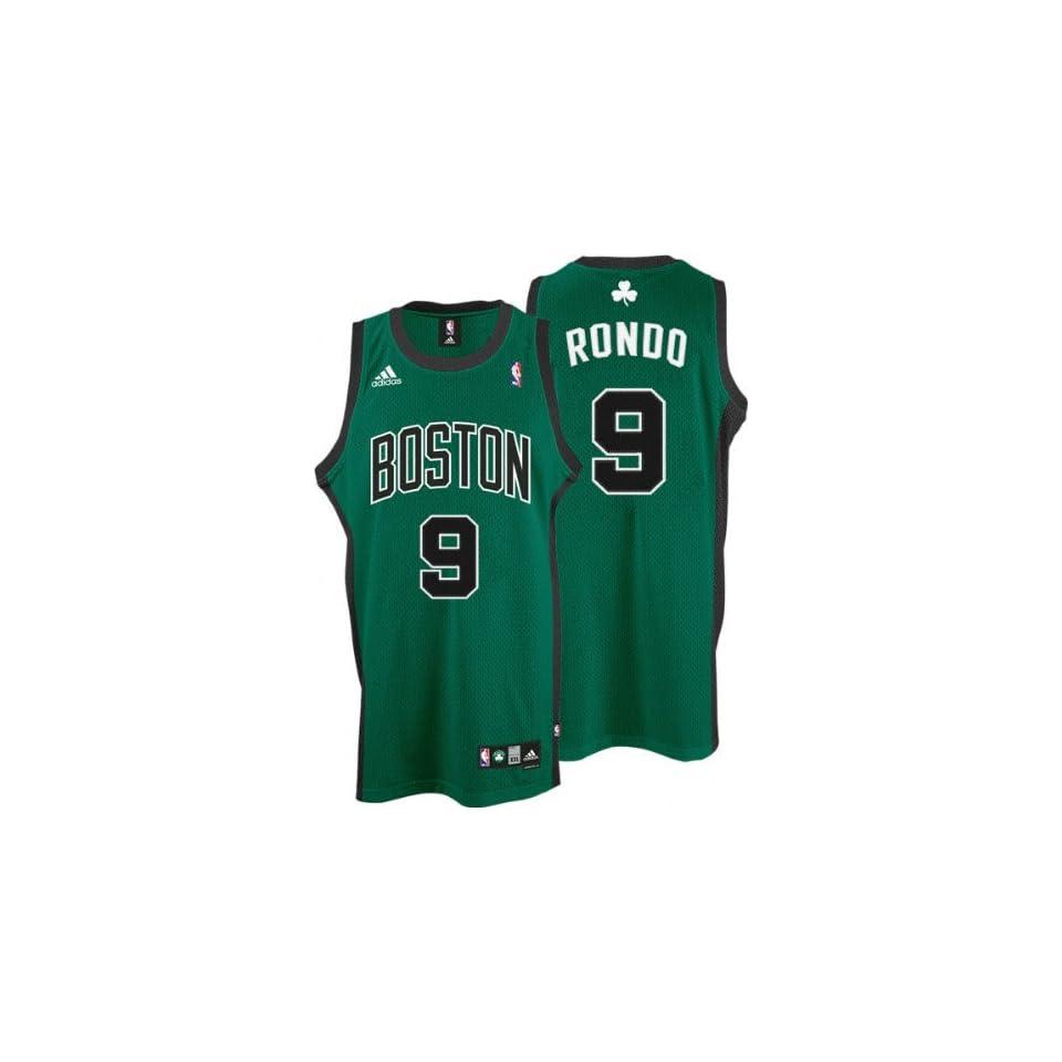 Rajon Rondo Jersey adidas Green Swingman  9 Boston Celtics Jersey on ... effef42f8