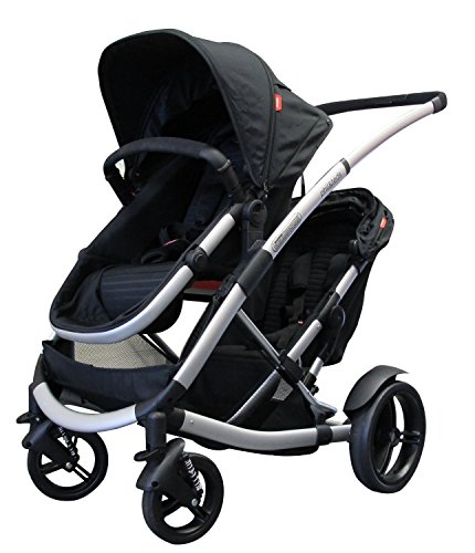 Phil and Teds Promenade Stroller WITH Doubles Kit in Black - 1