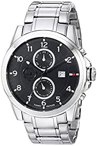Tommy Hilfiger  Men's 1710296 Classic Stainless Steel Black Subdial  Watch
