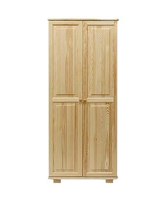 Kleiderschrank Massivholz natur 008 - Abmessung 190 x 80 x 60 cm (H x B x T)