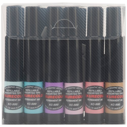Zig Kurecolor Single Tip Markers, Natural Colors, 12-Pack
