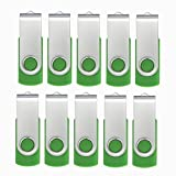 10pcs 16GB USB Flash Drive 16G Flash Drive USB 2.0 Memory Drive Thumb Stick Swivel USB Drive Green